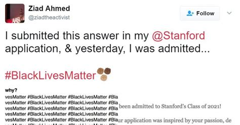 College Application Essay Stanford Bangladeshi Gets Into Stanford After Writing Blacklivesmatter 100 Times On College Essay
