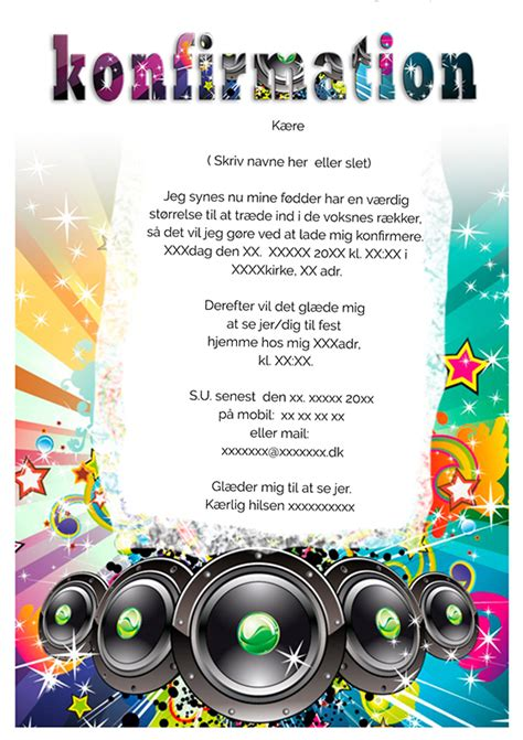 design konfirmation invitation konfirmation