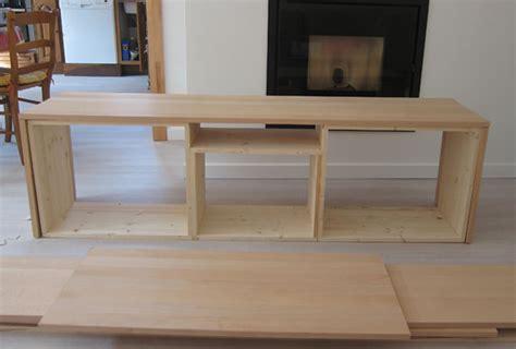 Fabriquer un meuble TV sur mesure en bois avec