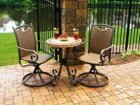 Bistro Patio Chairs Resin Wicker Outdoor Dining Sets