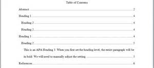 Table Of Contents Apa Style Template by Perrla Knowledge Base Perrla