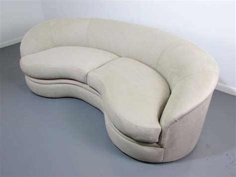 kidney shaped sofa biomorphic kidney bean shaped sofa by vladimir kagan for