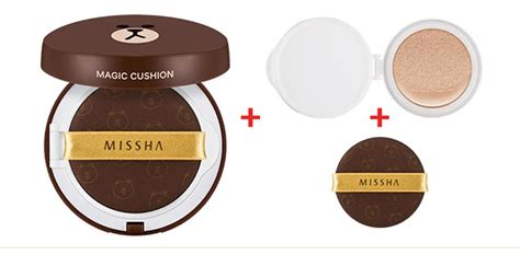 Jual Missha Magic Cushion jual missha magic cushion friend package brown korean