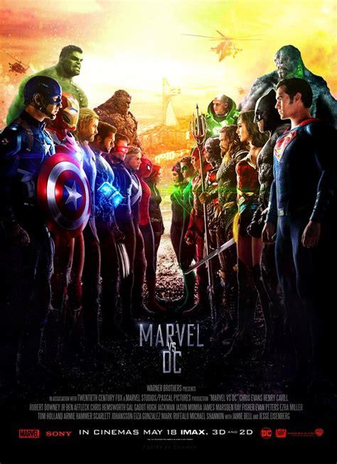 film marvel vs dc marvel vs dc theatrical poster by camw1n on deviantart