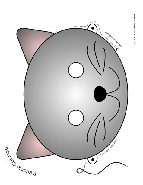 cat mask template gray cat mask woo jr activities