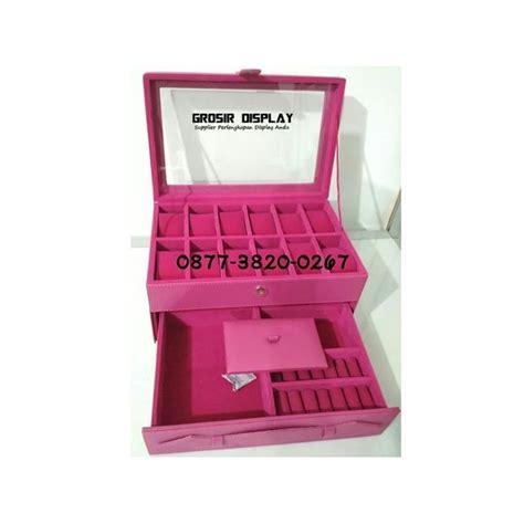 Box Jam Tangan Kotak Box Perhiasan box kotak tempat jam mix cincin perhiasan bludru grosir