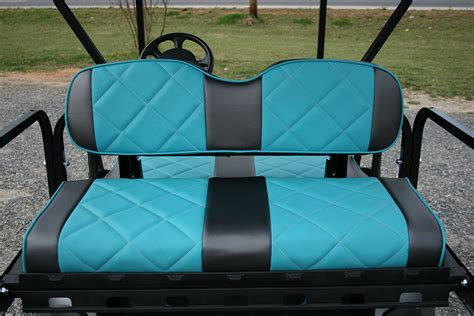 golf cart seat upholstery turqua diamond with gear elite golf cart seats