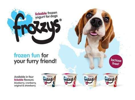yogurt for dogs frozzys lickable frozen yogurt for dogs