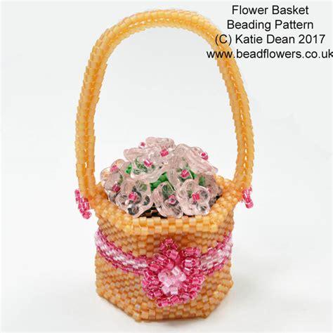 beaded basket tutorial beaded flower basket pattern dean beadflowers