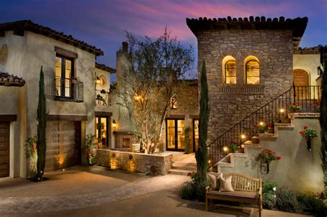 Lennar Home Floor Plans by A Tuscan Farmhouse 1 Mediterranean Exterior Orange