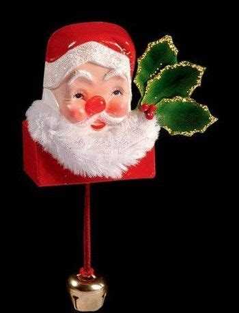 santa pin with light up nose old fashioned christmas