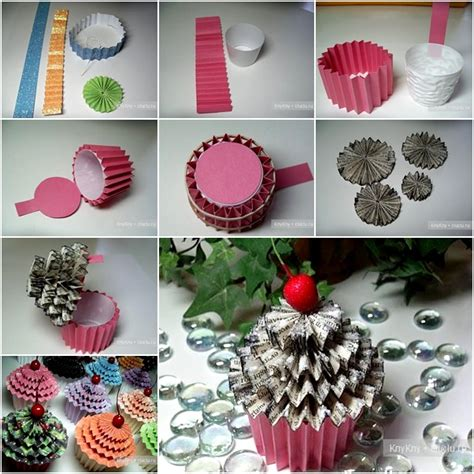 How To Make Cupcake Paper - how to diy paper cupcake box