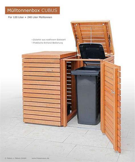 hochwertige tischlen 2er m 252 lltonnenbox cubus 120 240 liter hartholz fsc