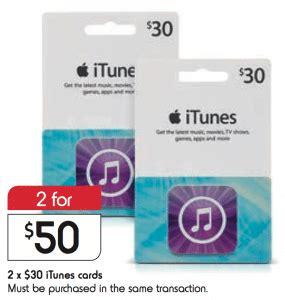 Gift Cards Available At Kmart - expired get 2x 30 itunes gift cards for 50 at kmart save 16 6 gift cards on sale
