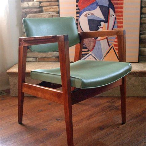mint green desk chair 60s vintage gorgeous walnut chair mid century modern