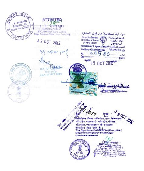Services Kuwait Embassy Attestation Services In India In