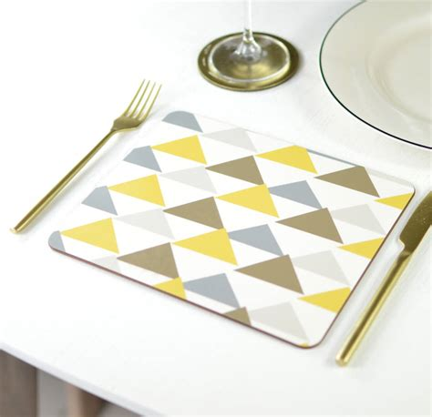 geometric pattern placemats geometric pattern placemat set by tilliemint loves