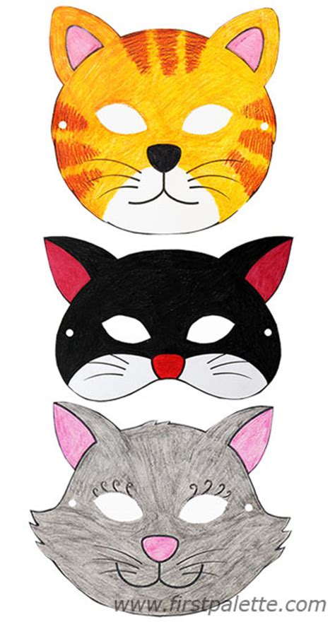 How To Make A Cat Mask Out Of Paper - printable animal masks craft crafts firstpalette