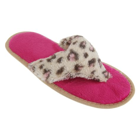 womens flip flop slippers womens animal print supersoft toe post flip flop