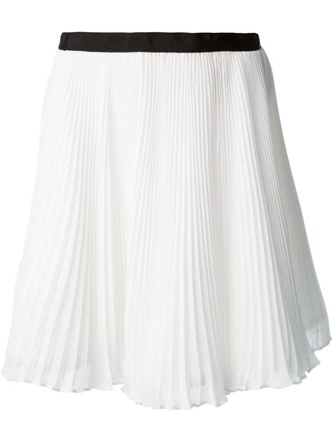 pleated skirt in white lyst