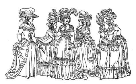 Costume Ladies Printable Coloring Page   Marie Antoinette