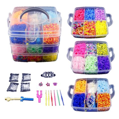 diy rubber st kit co z 4800 colorful rubber band bracelet loom refill kit