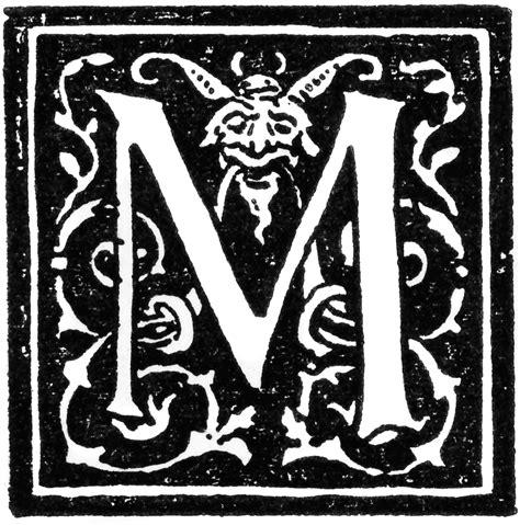 Initial M m initial clipart etc