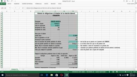 calcular finiquito 2016 excel calcular finiquito 2017 herramienta para calcular