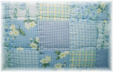 Shabby Chic Patchwork Quilt - shabby cottage chic blue floral patchwork quilt set