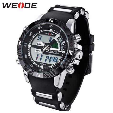 Jam Tangan Pria Water Resist 30m jual jam tangan pria weide wh1104 rubber original
