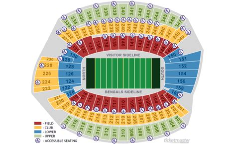 cincinnati bengals stadium seating 2 cincinnati bengals 2012 season tickets ebay