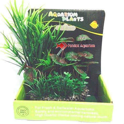 jual tanaman ornamen hias aquascape plastik aquarium