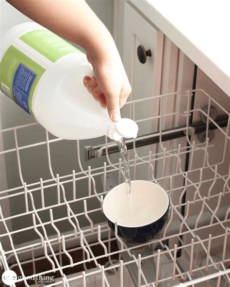 top rack of dishwasher not cleaning how to clean your dishwasher in 3 easy steps one good