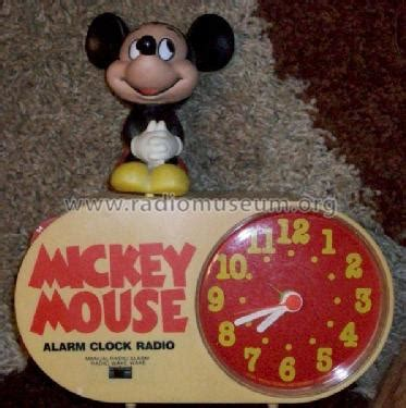 mickey mouse alarm clock radio 409 radio concept 2000 hong
