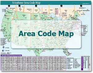 us map phone area codes telephone area code map