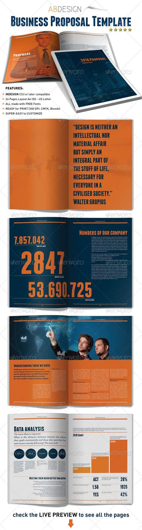 layout background proposal business proposal indesign template project proposal