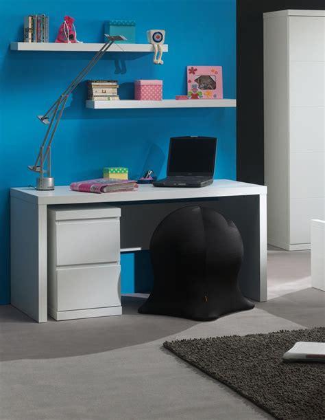 caisson bureau enfant bureau enfant contemporain avec caisson coloris blanc
