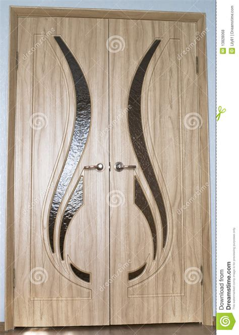 Wood Doors With Glass Inserts Doors Royalty Free Stock Photos Image 13828068