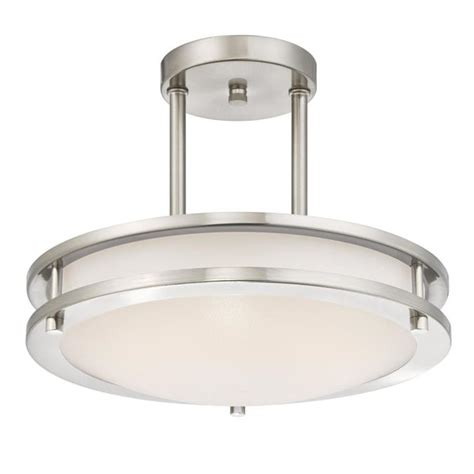 led semi flush mount ceiling lights westinghouse lauderdale 11 7 8 inch dimmable energy