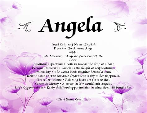 name creations angela name meaning