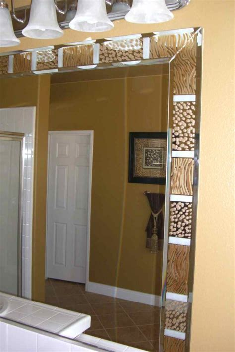 bathroom mirror trim ideas bathroom mirrors sans soucie glass