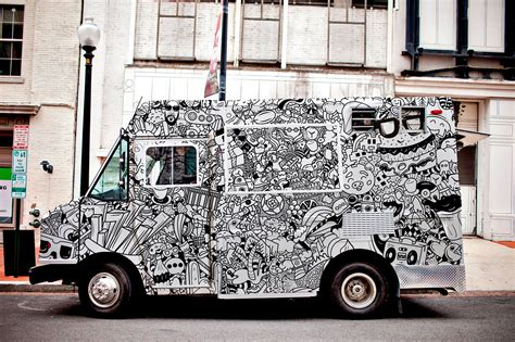 coq a doodle do food truck food truck doodle on behance