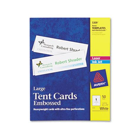 avery 5309 template avery 5309 tent cards