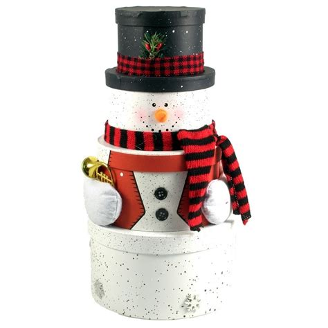 snowman gift tower baskets christmas wikii