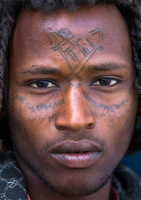 ethiopian tattoos afar tribe with curly hair and tattoos assayta