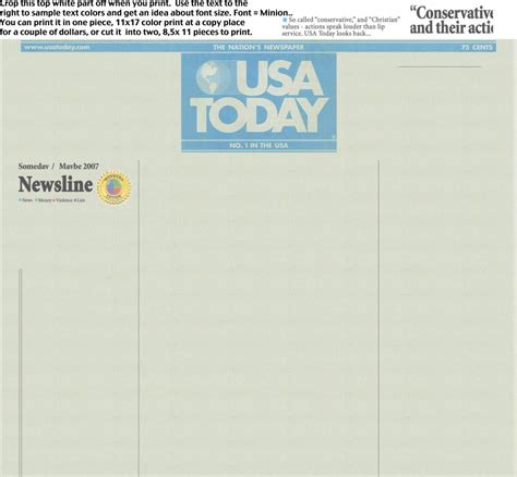 Make Your Own News Paper - make your own newspaper headlines destructables