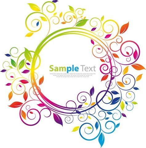 colored beautiful flowers design graphics vector flower swirl flower vector