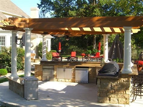 outdoor pergolas covered outdoor kitchen weatherproof pergolas tejaban on pinterest pergolas covered patios