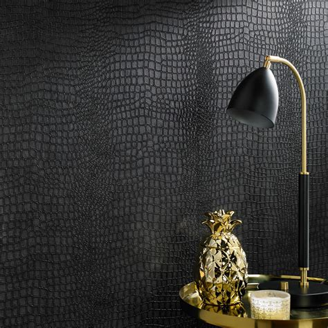 Black Master Crocodile crocodile black wallpaper graham brown