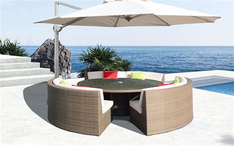 curved patio sectional curved patio sofa mezzo